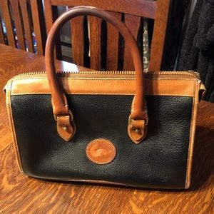 Dooney & Bourke Black and Tan Handbag